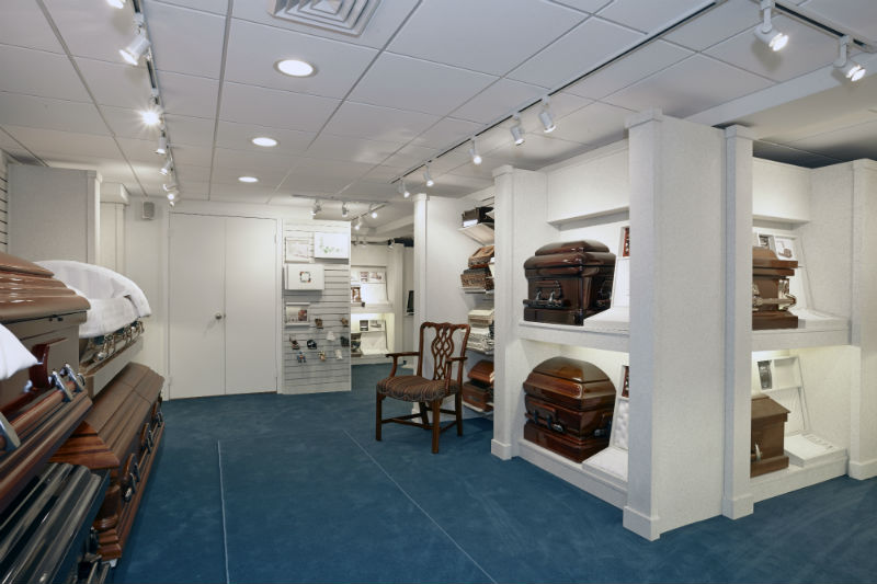 Casket Showroom Photo