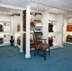 Casket Showroom Photo
